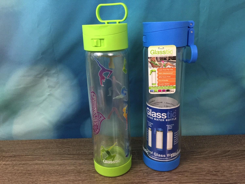 Glasstic shatterproof water bottle