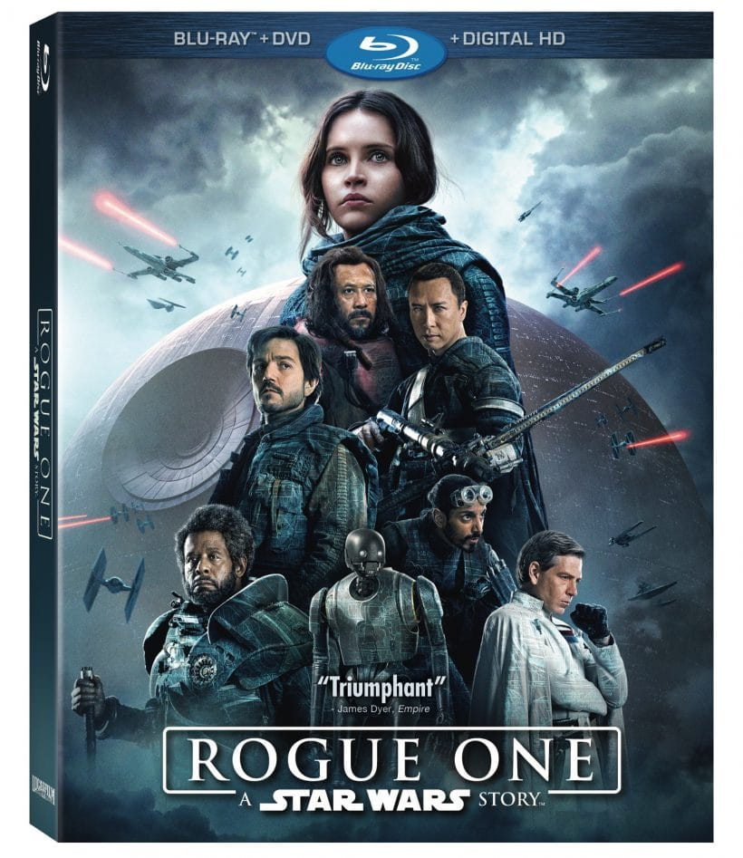 Move Night In with Rogue One Blu-Ray and DVD