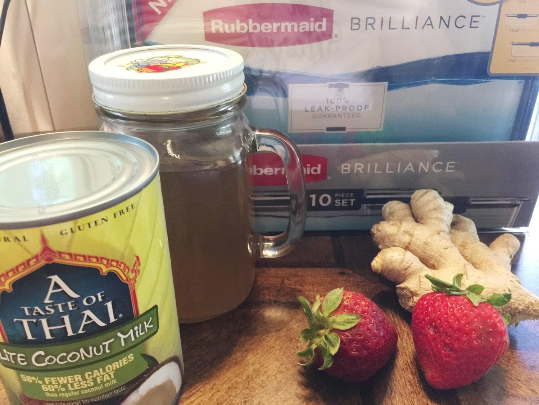 strawberry coconut ginger sorbet ingredients
