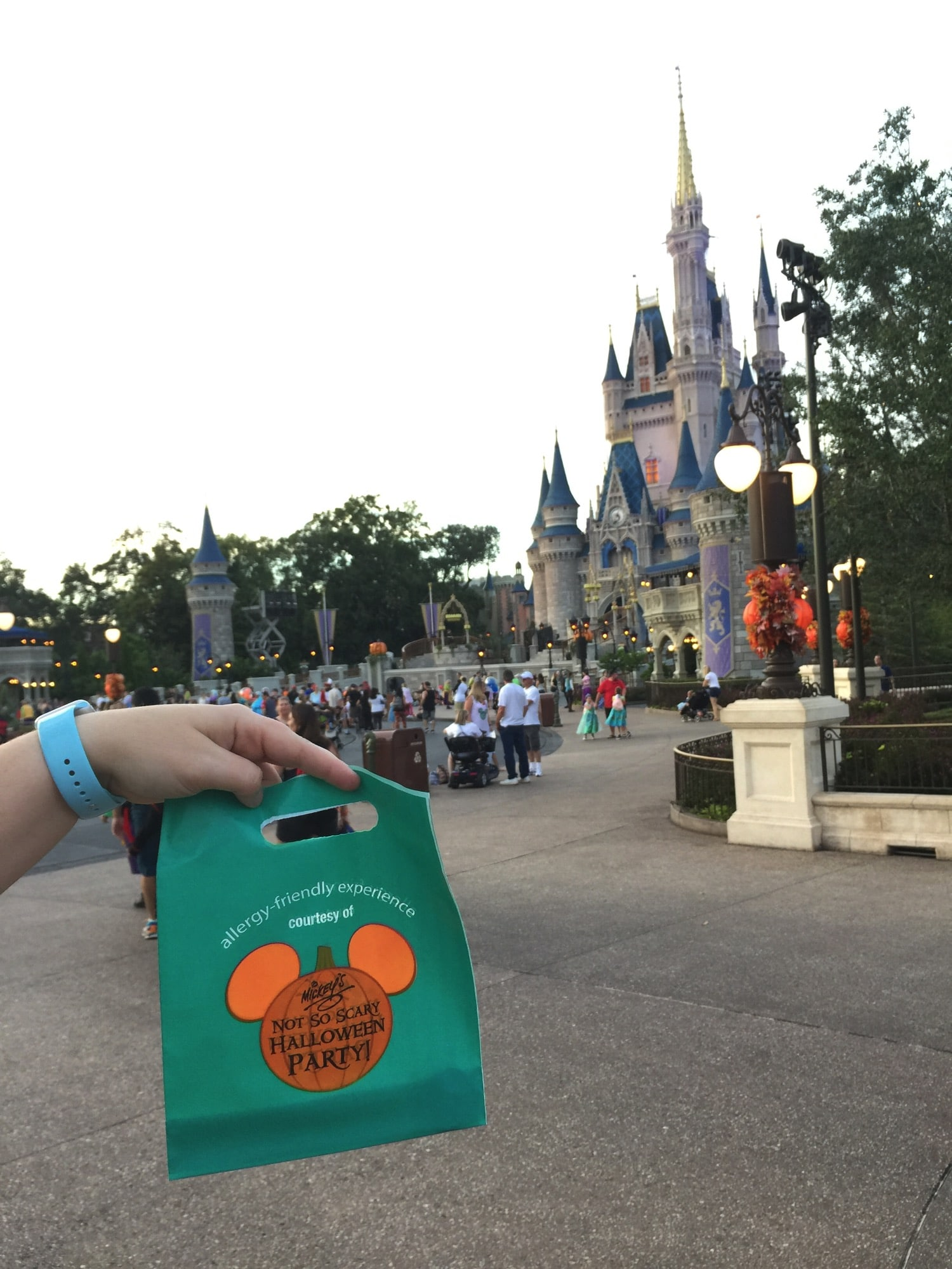Trick or Treating at Mickey's Not So Scary Halloween Party with Allergies