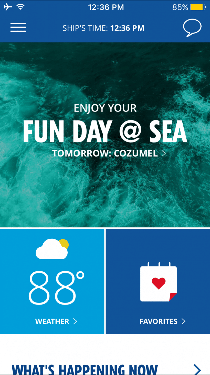 How The Carnival HUB app keeps you organized on your cruise