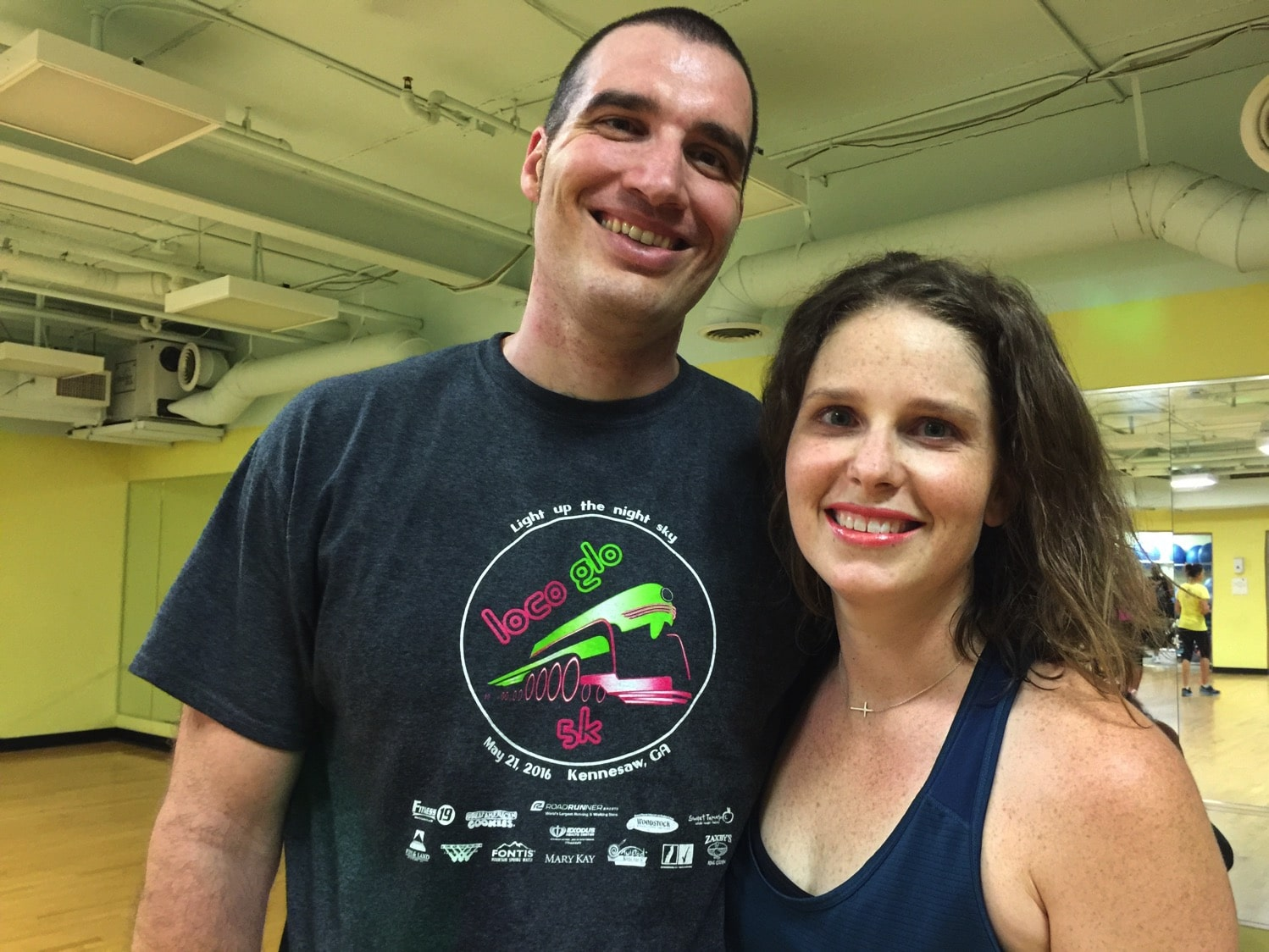 Zumba with Mr. Serious mommy and me Monday