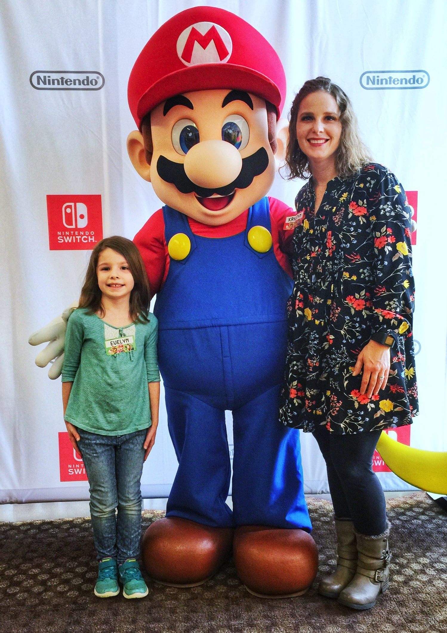 Mommy and ME Monday with MArio at Nintendo