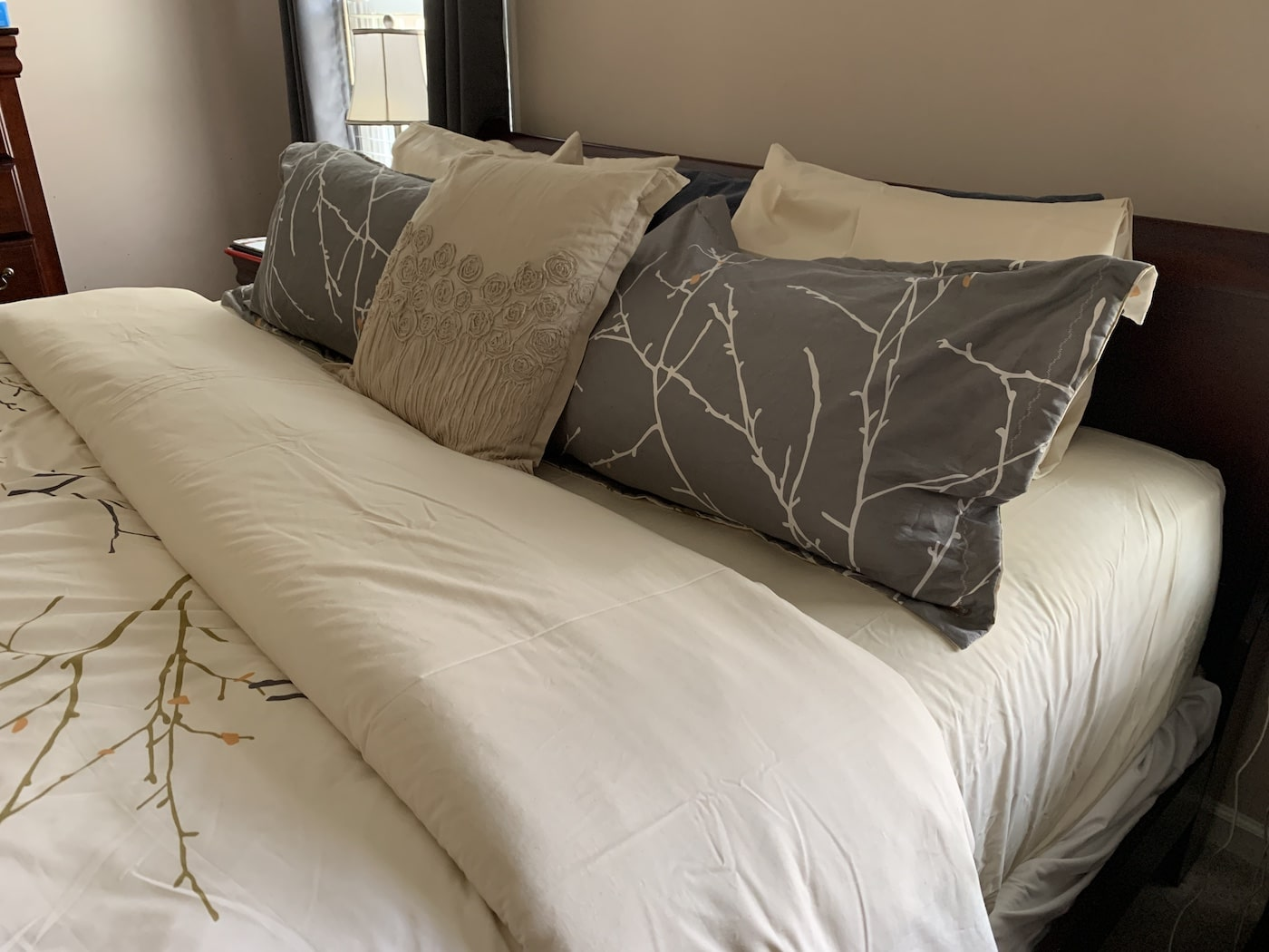 american blossom sheets natural on king bed made