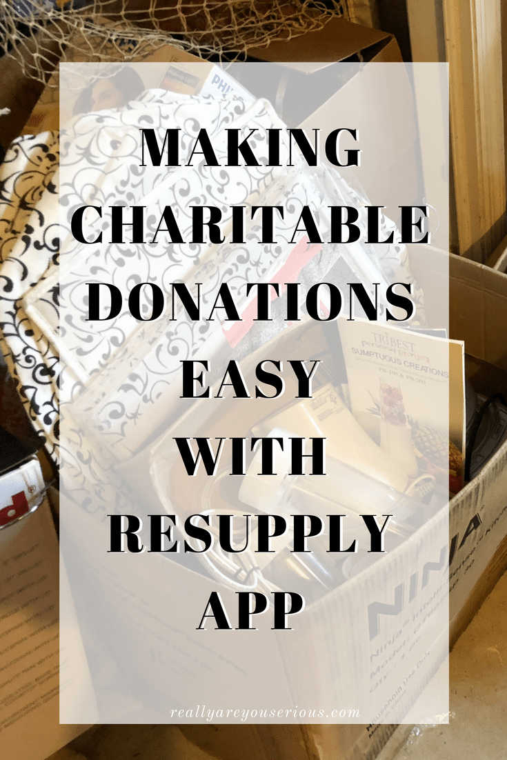 Making charitable donations easy with reSupply app