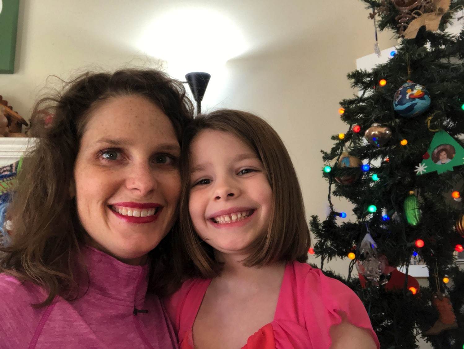 Mommy and Me Monday by the tree