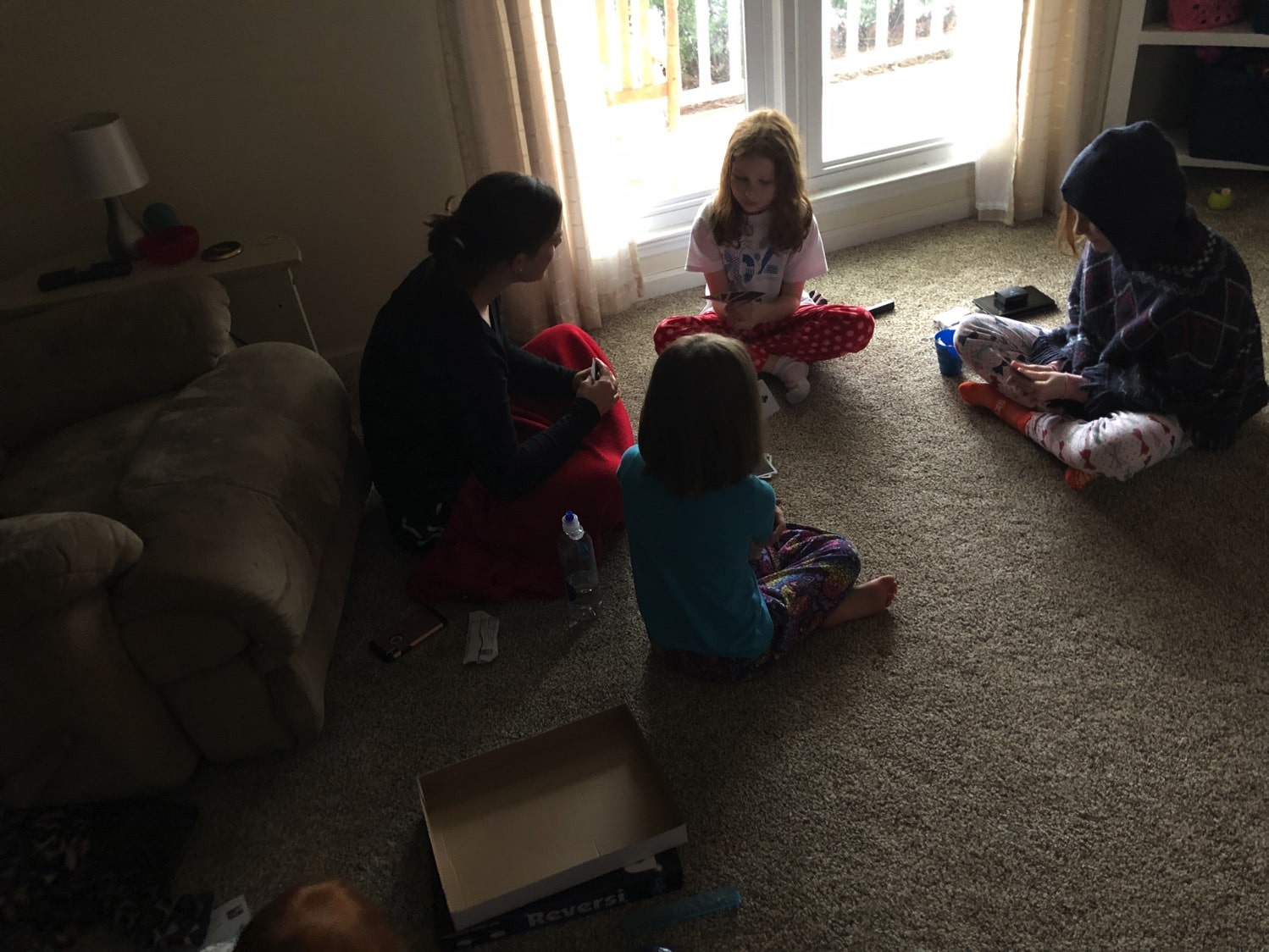 Playing with aunt emily