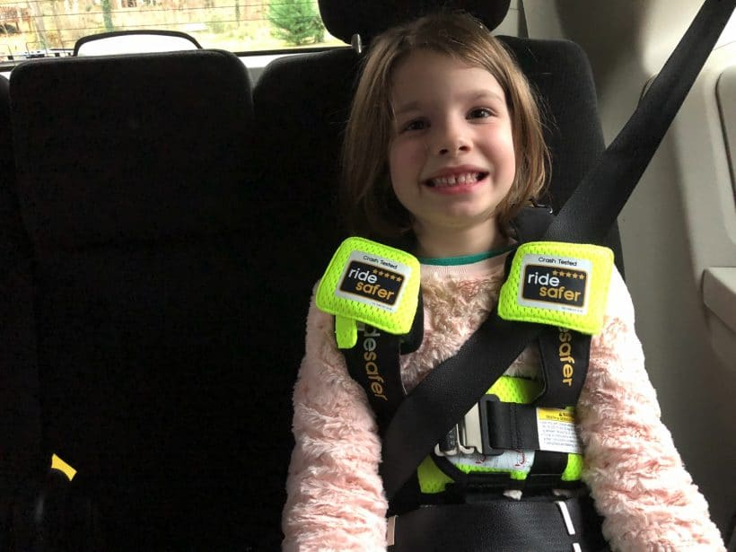 Traveling with a kid and no carseat | RideSafer Harness Review