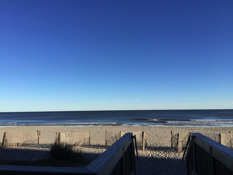 the beach views