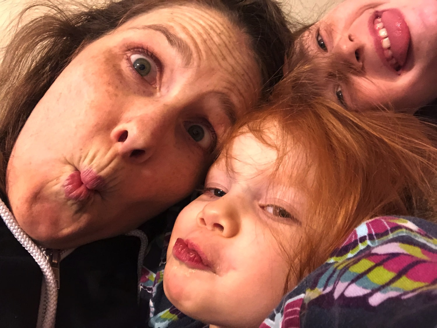 SIlly faces with my bookends