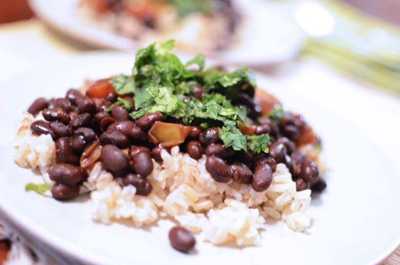 Easy Black Beans and Rice Recipe with Cilantro