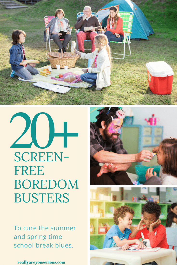 20+ screen-free boredom busters