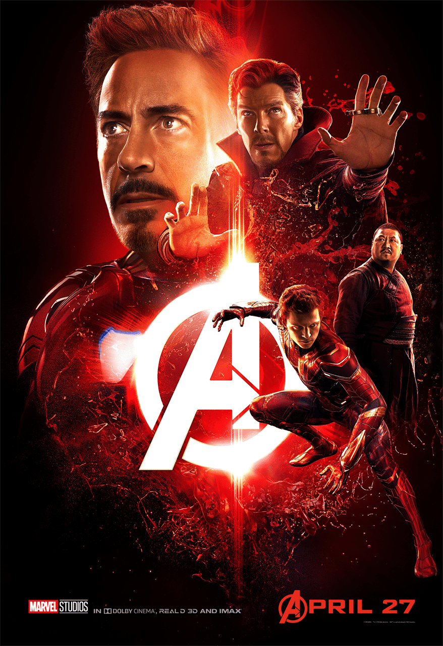 Avengers Infinity Wars Red Poster