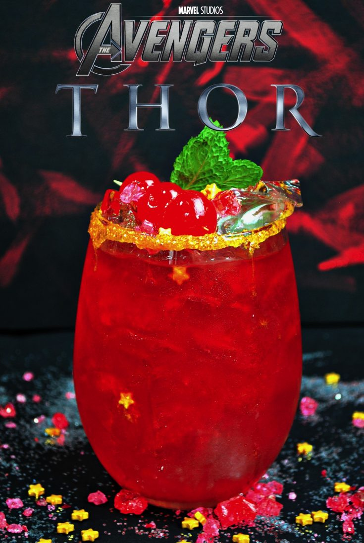 Epic Thor Stormbreaker Cocktail inspired by Avengers Infinity War