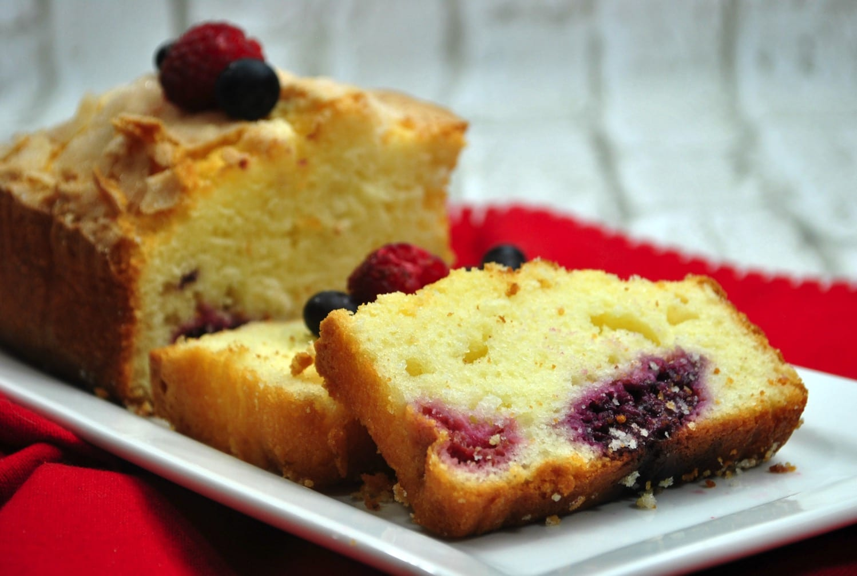 Gluten Free Raspberry Blueberry Loaf