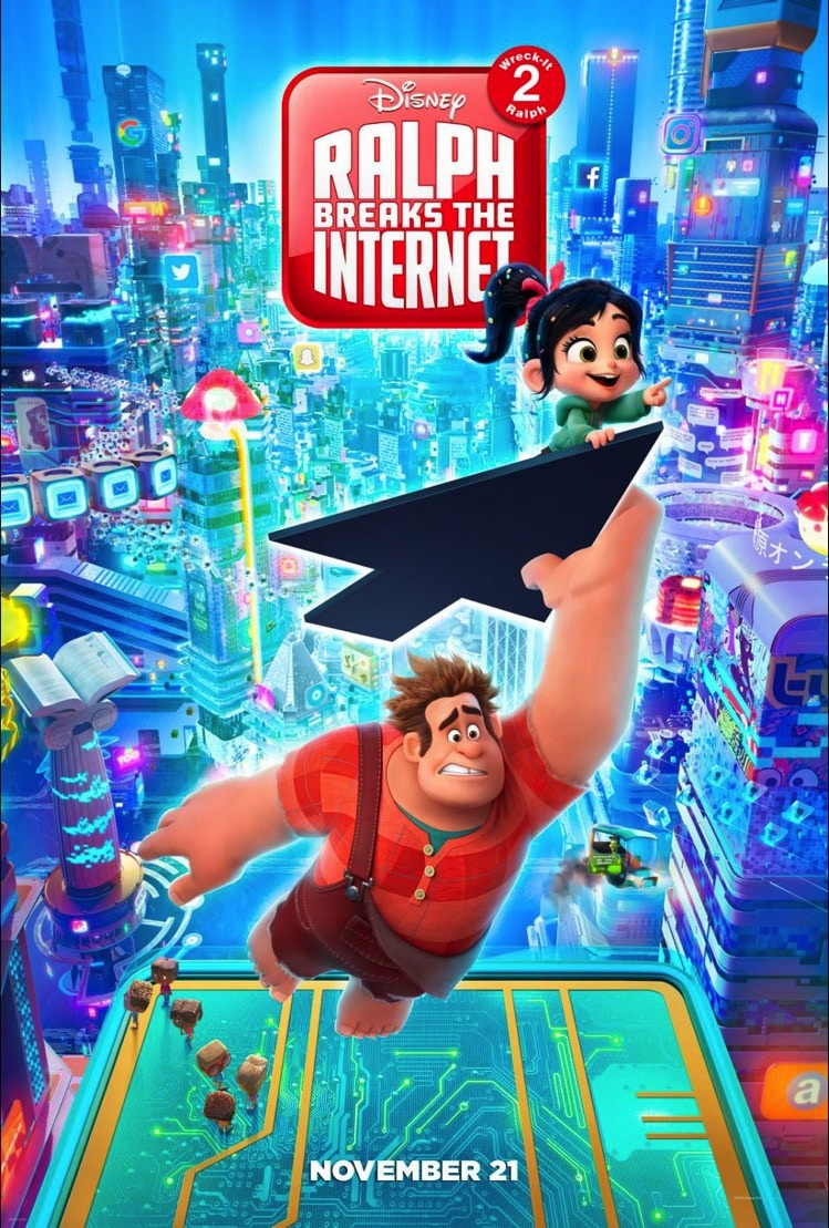 RALPH BREAKS THE INTERNET: WRECK-IT RALPH 2 Trailer and poster