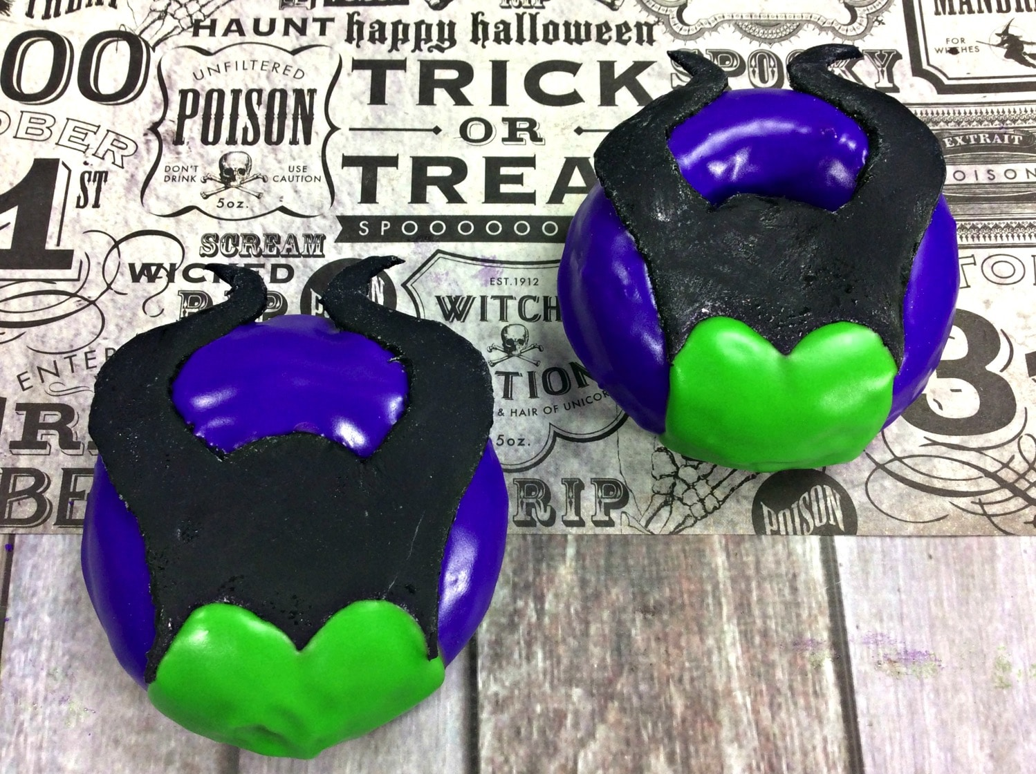 face filled in for Maleficent Donut