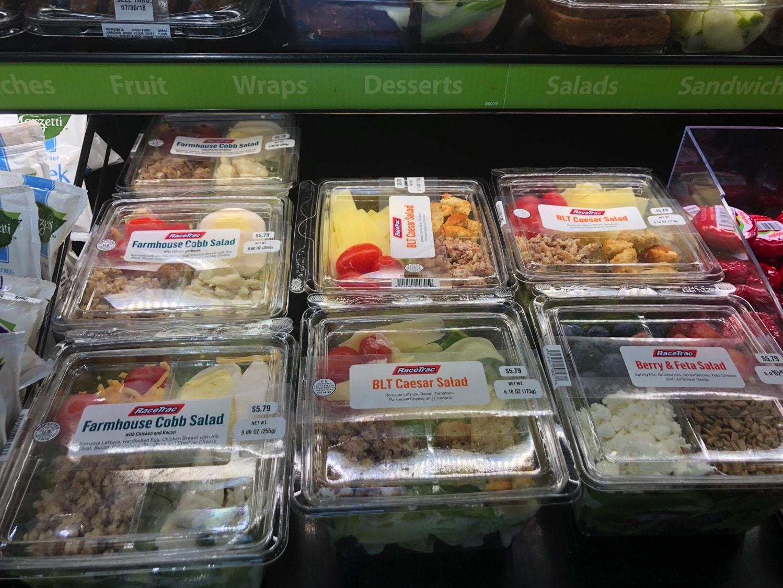 salads at racetrac
