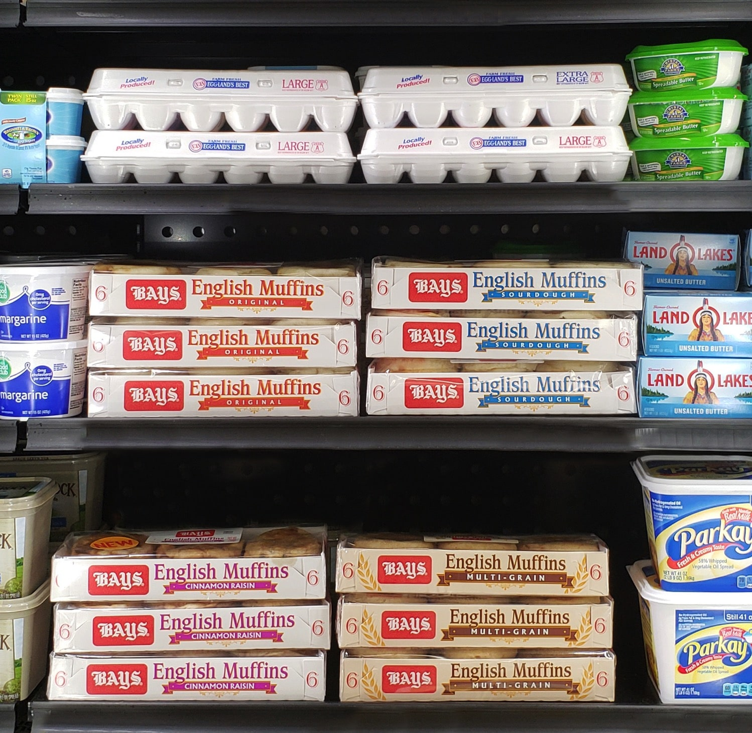 Bays English Muffins on Shelf in Dairy Section .jpg