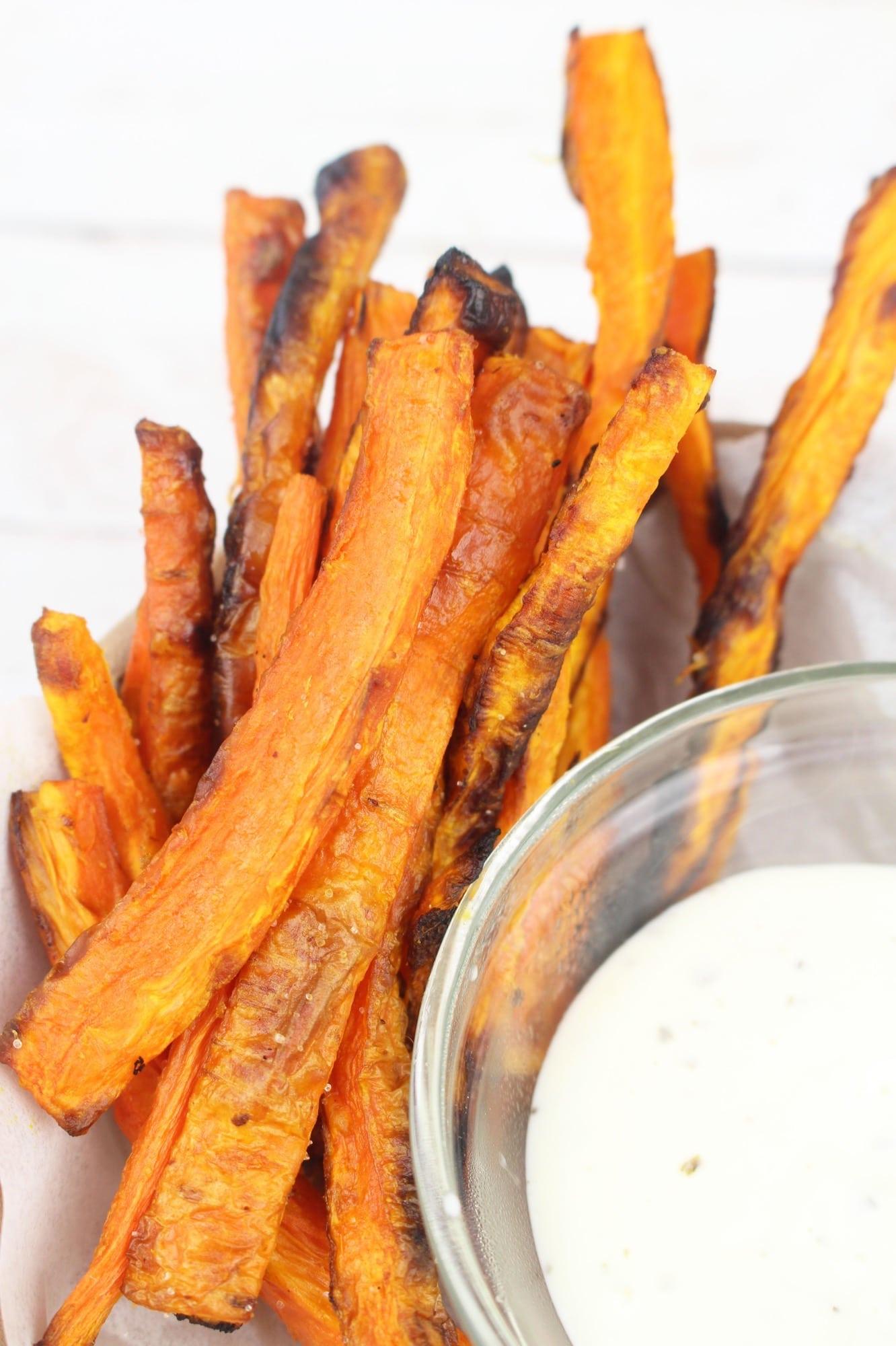 homemade carrot fries