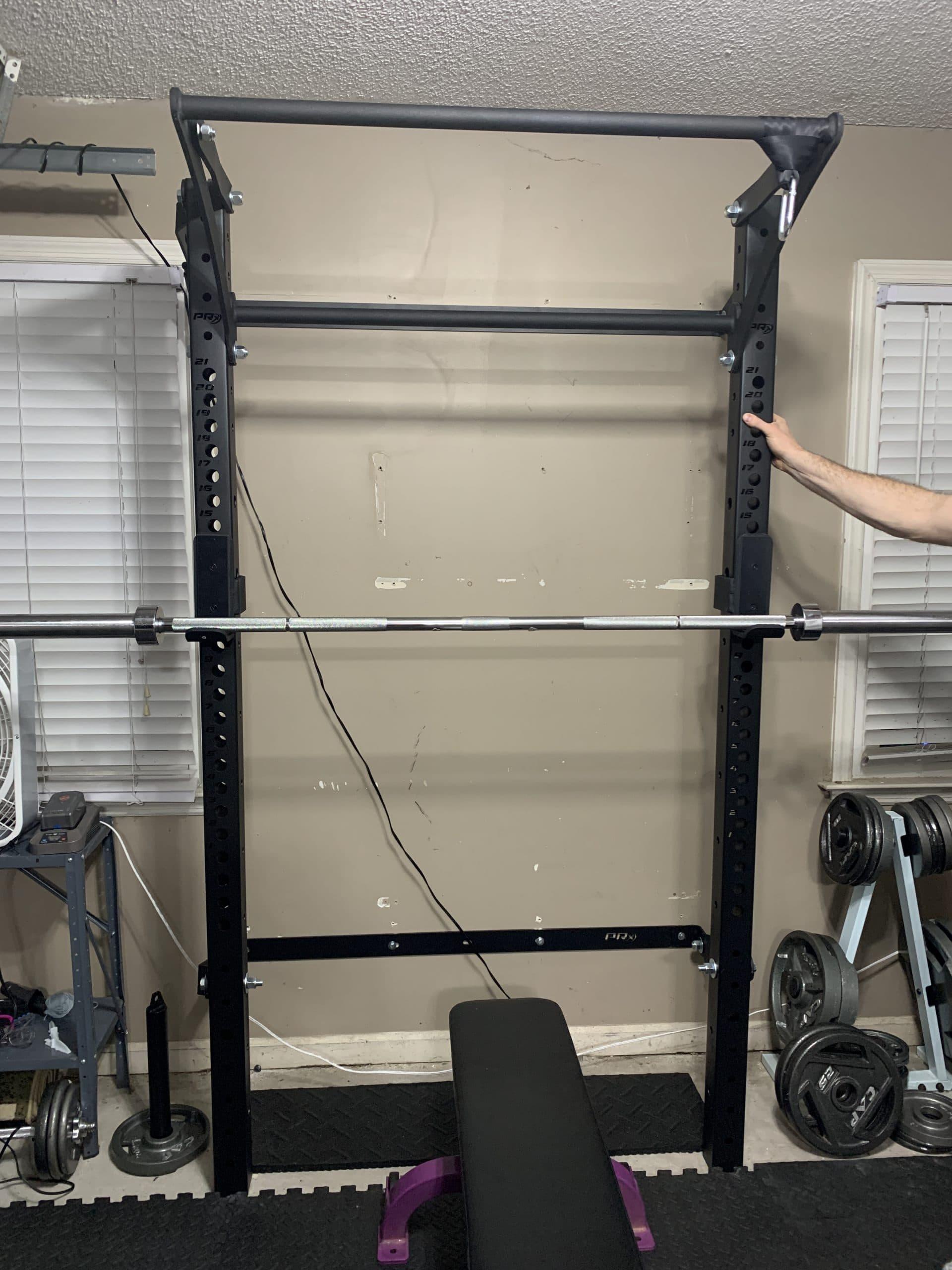 PRX pro rack installed in garage