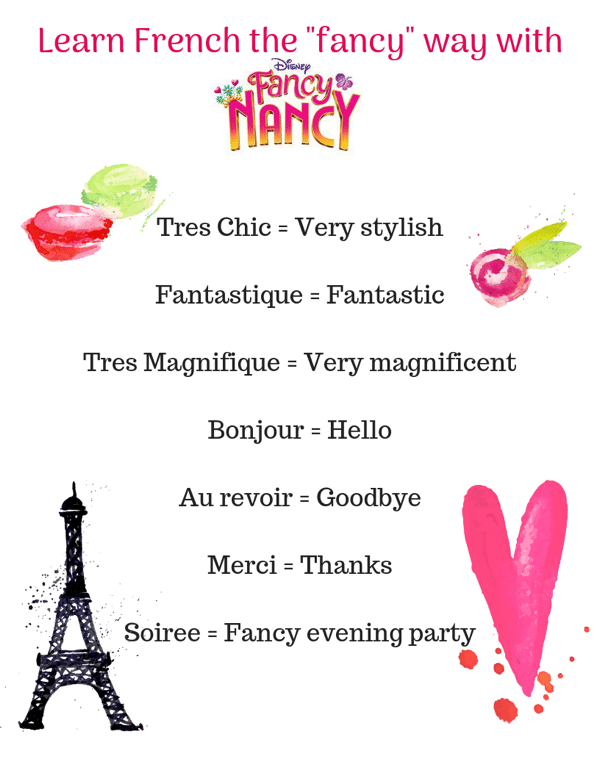 Learn French the Fancy way with Fancy Nancy