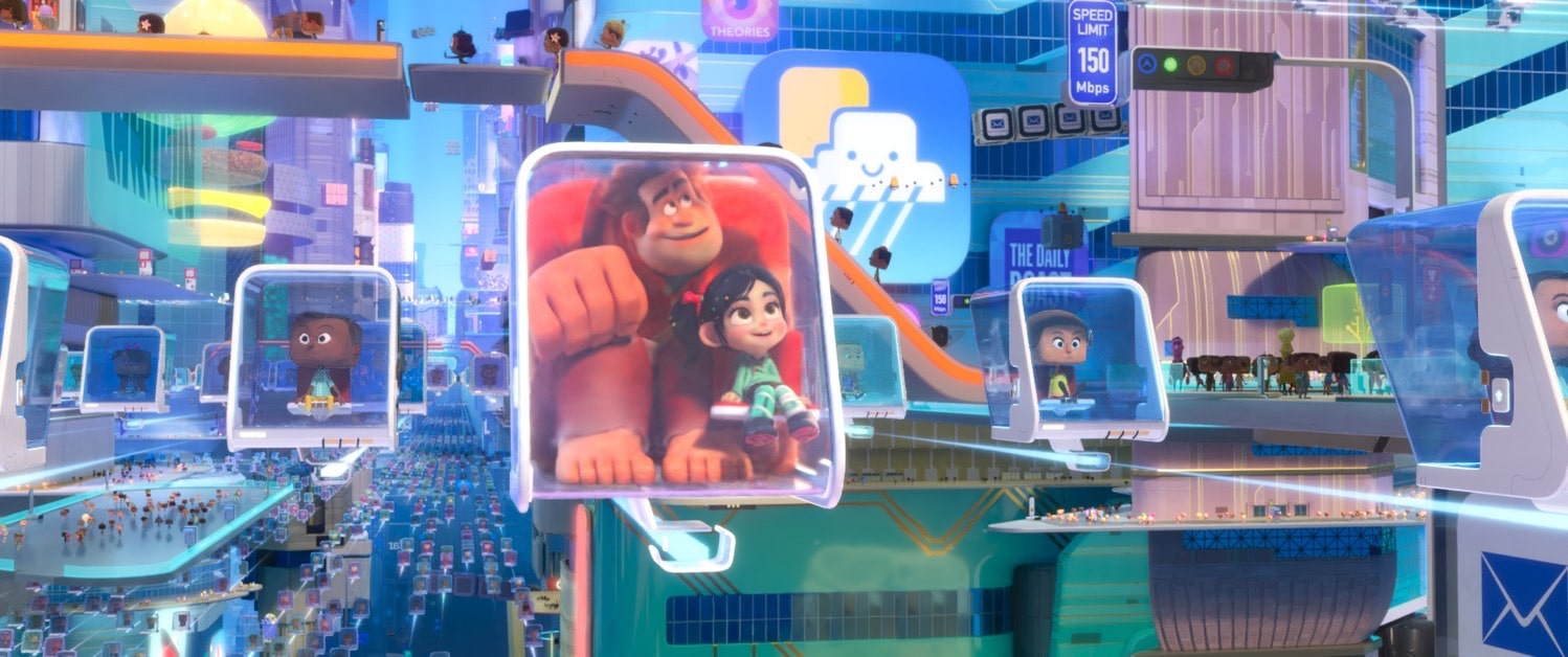Ralph Breaks the Internet in the internet with Vanellope