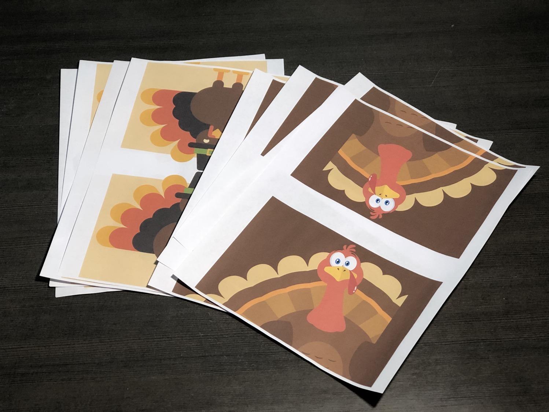 Thanksgiving turkey juice box wraps