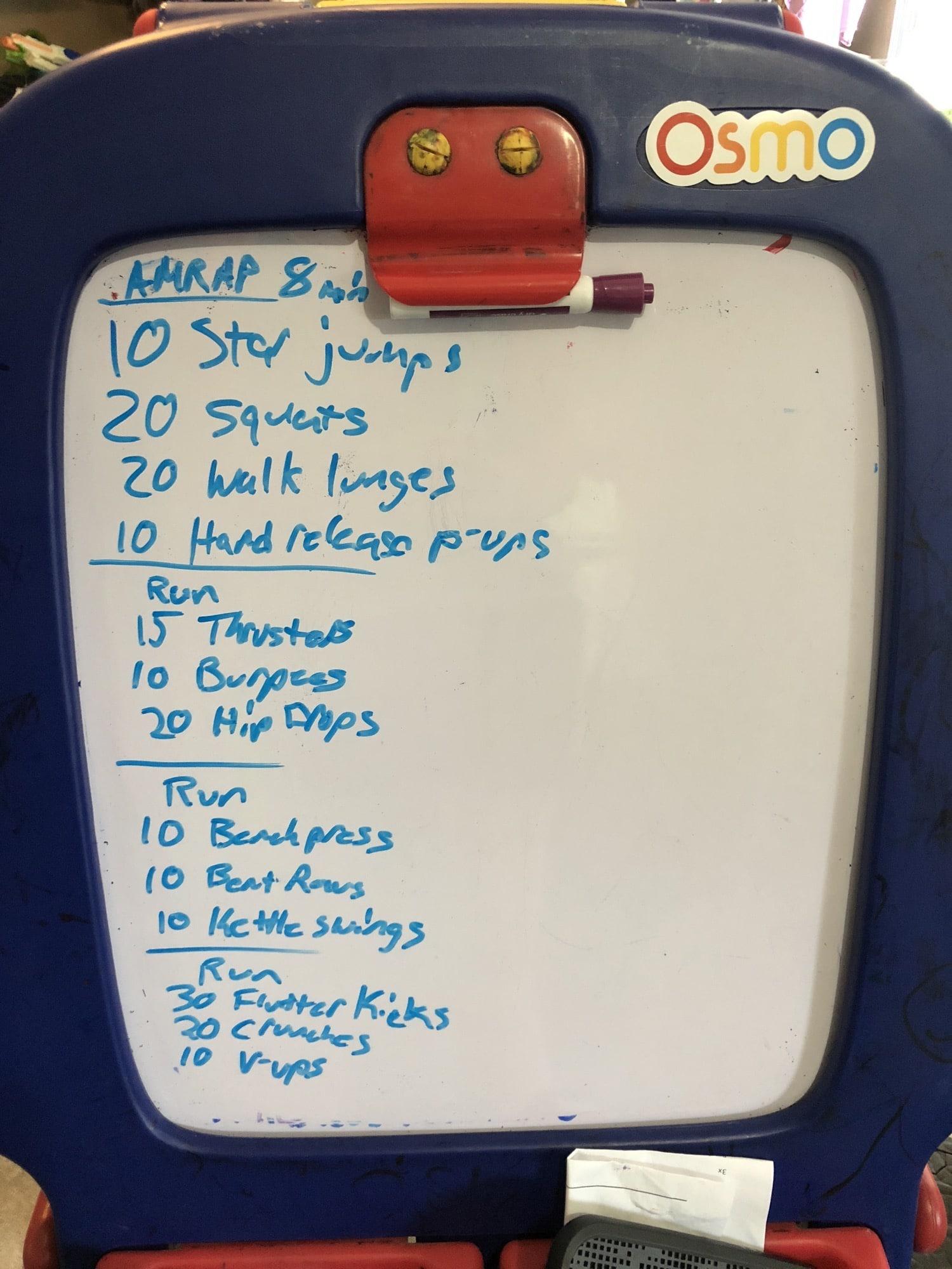 garage gym workout board