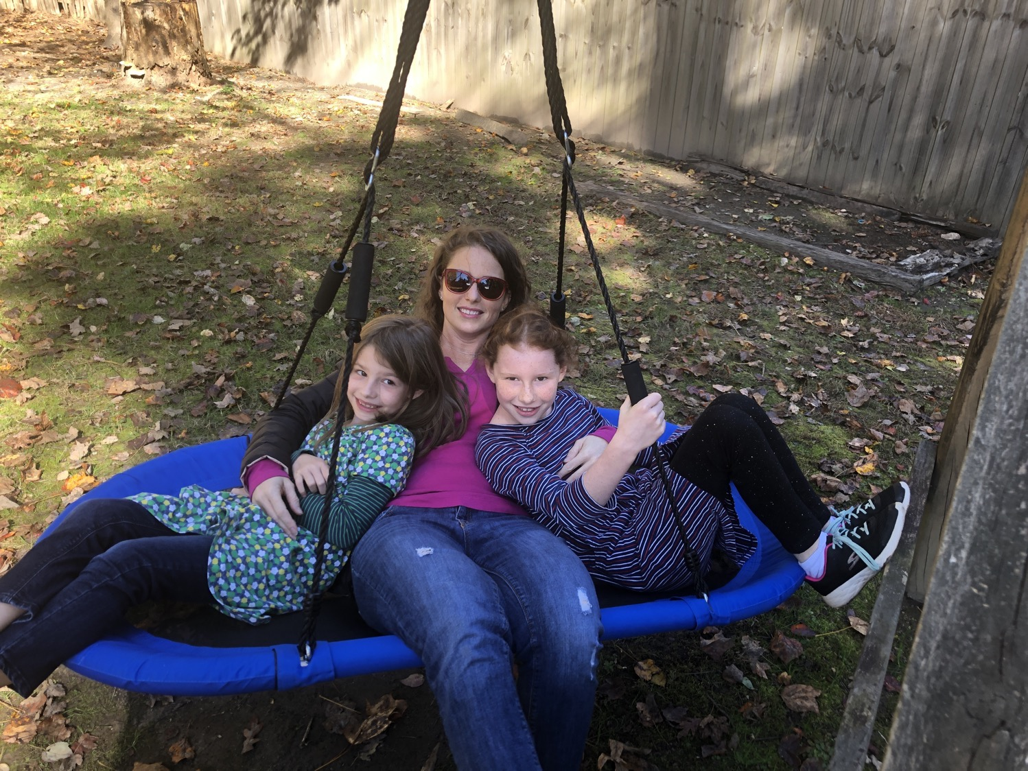 mommy and me swinging together