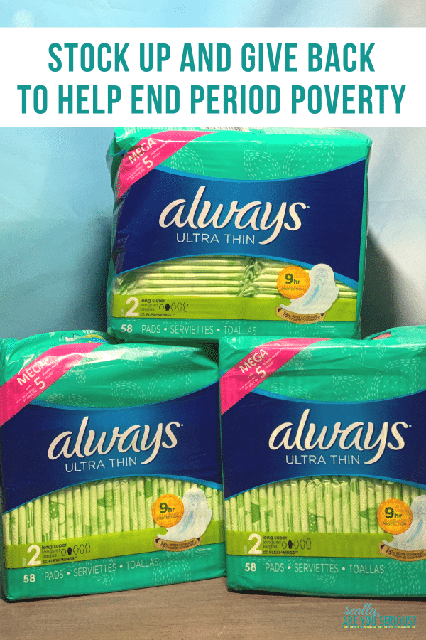 Stock Up and Give Back to Help End Period Poverty