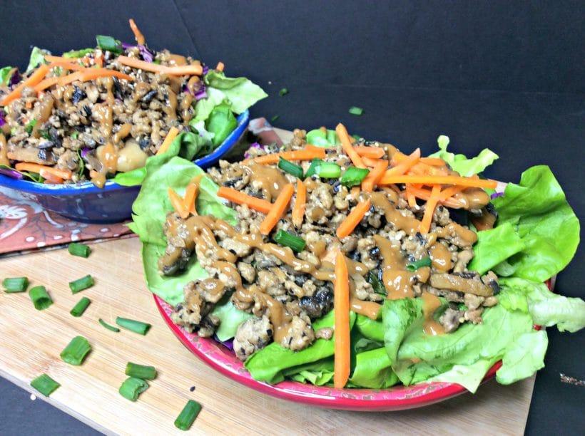 Gluten-Free Thai Lettuce Wrap Salad