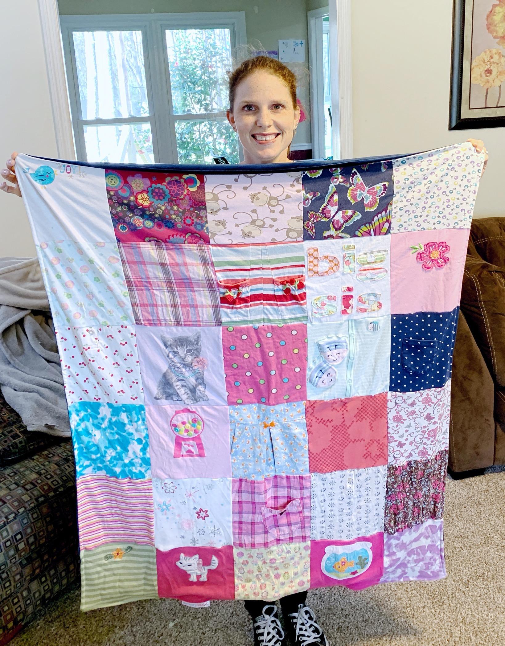 memory stitch baby blanket