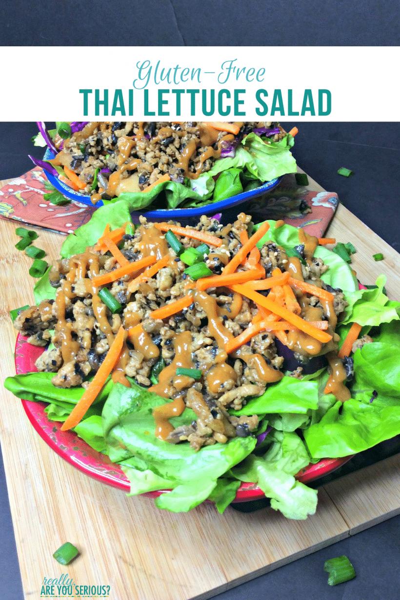 gluten-free thai lettuce salad