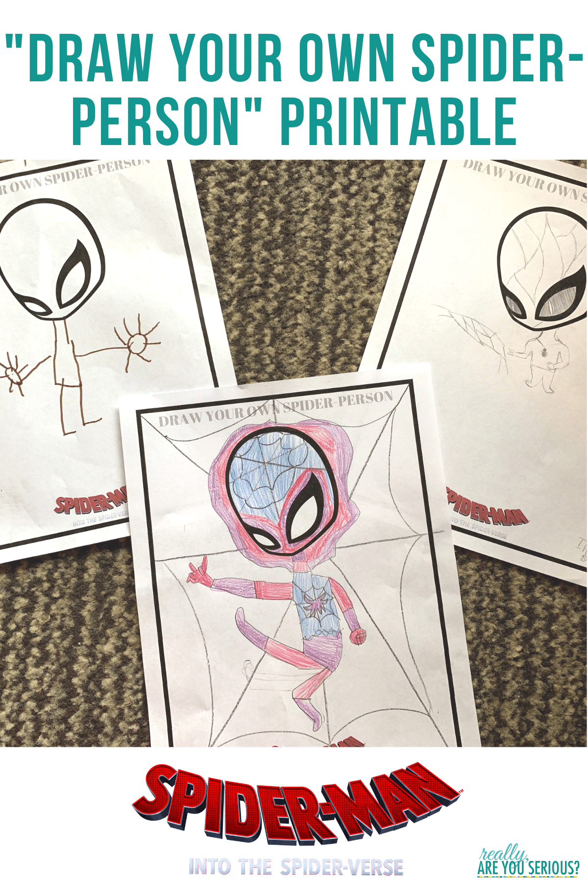 Draw Your Own Spider Person Printable