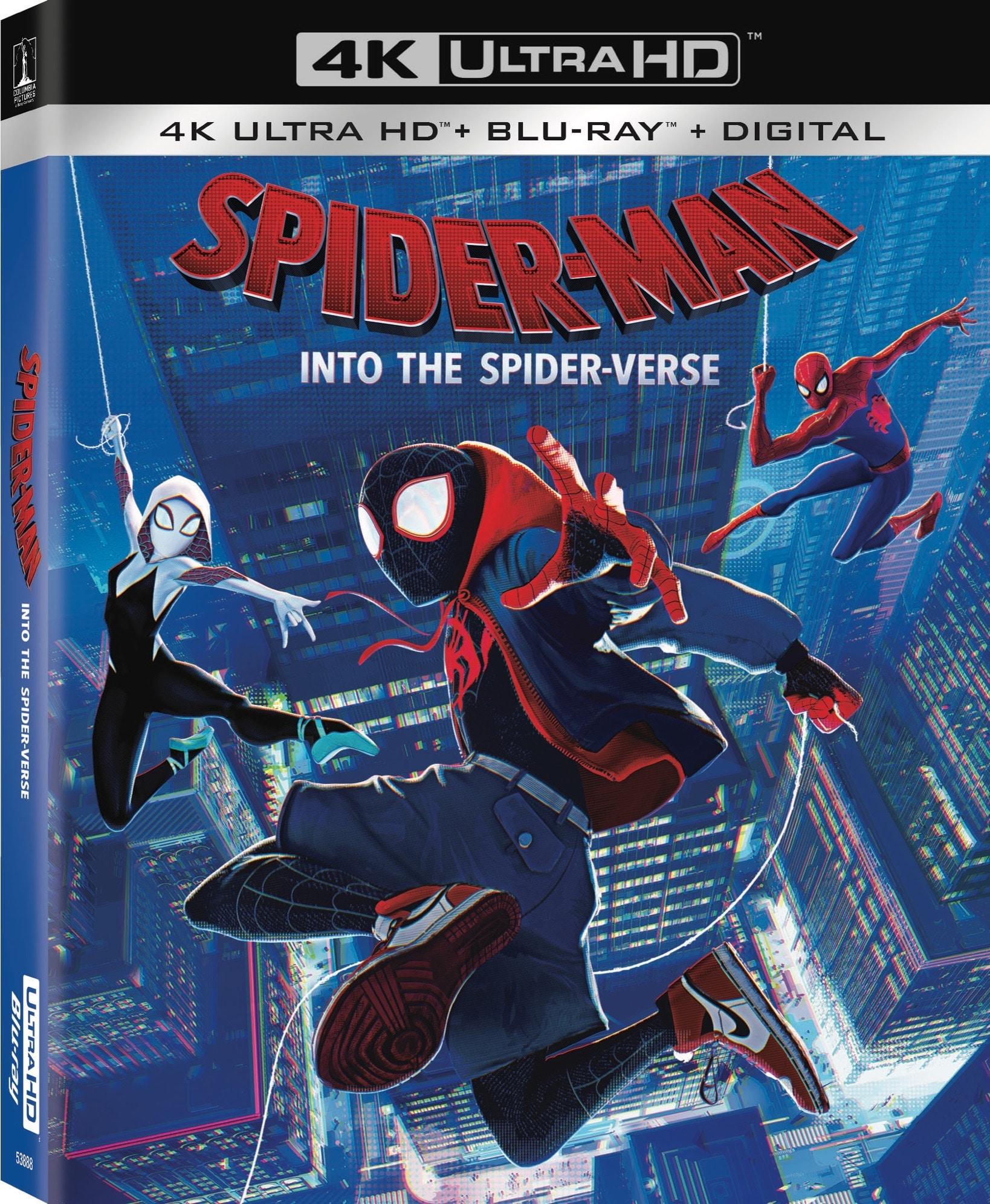 Spider man Spider Verse 4K UHD Outersleeve FrontLeft