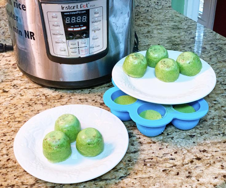 Green dairy-free egg bites
