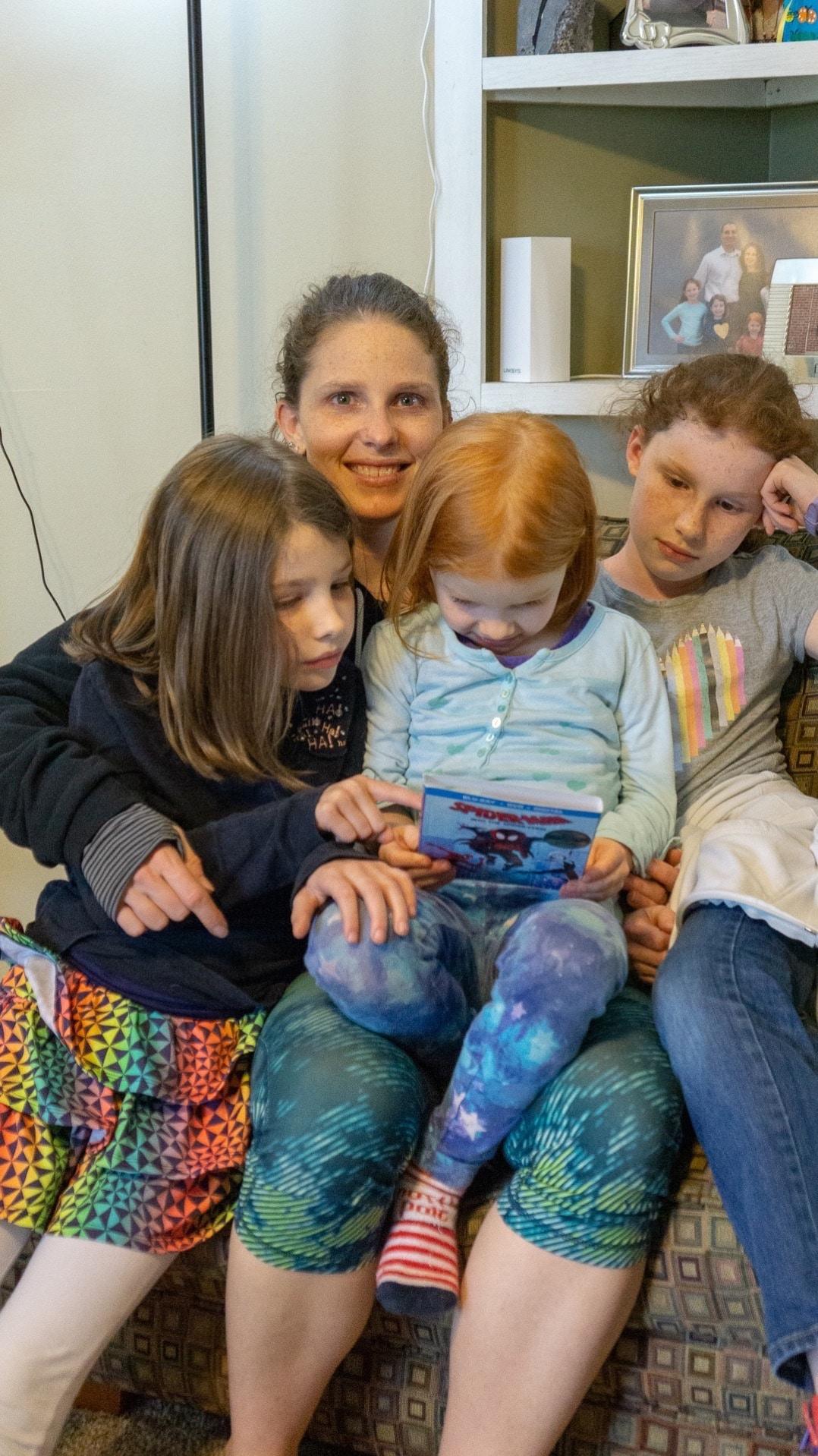 lap full of kiddos