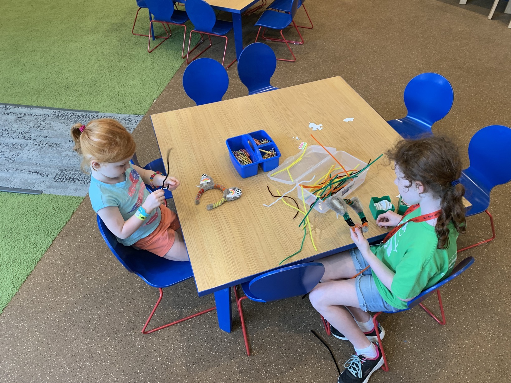 Great Wolf Lodge Summer Camp-In wolf ear decorating
