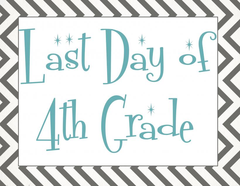 Last day of 4th grade
