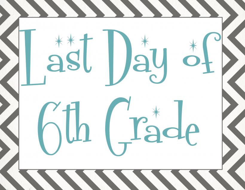 Last day of 6th grade