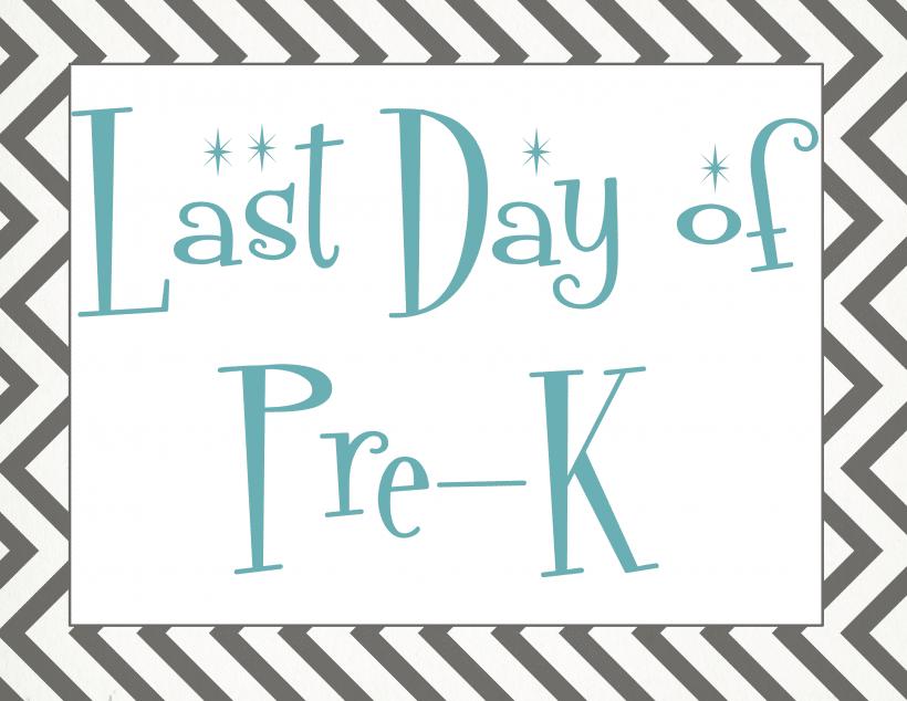 Last day of pre-k