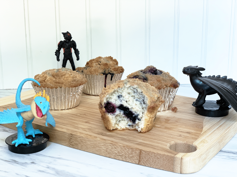 Blueberry Muffins with Streusel Topping Recipe Inspired by Night and Light Fury