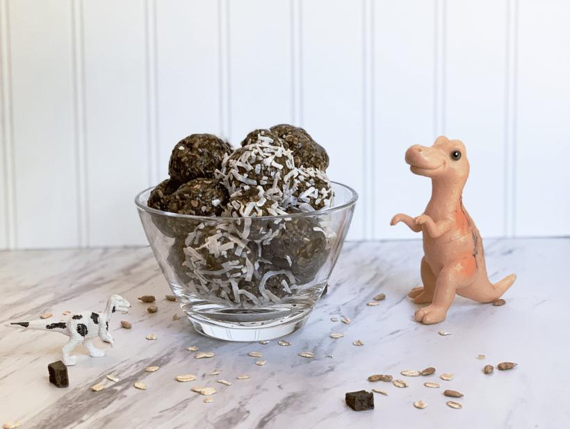 Vegan Gluten-Free Dinosaur Energy Bites Recipe in honor of International Dino Day and Gigantosaurus