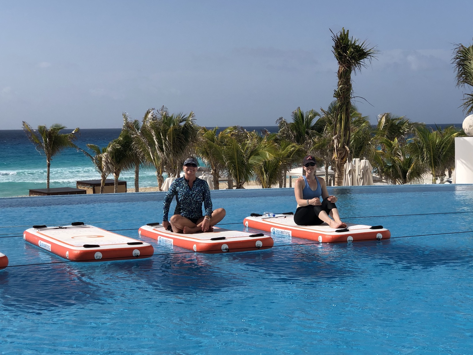 Mommy and Me Monday in Cancun le blanc paddle board yoga