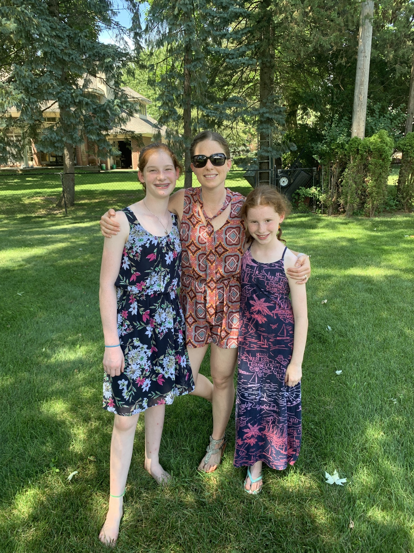 memorial celebration with my oldest girls