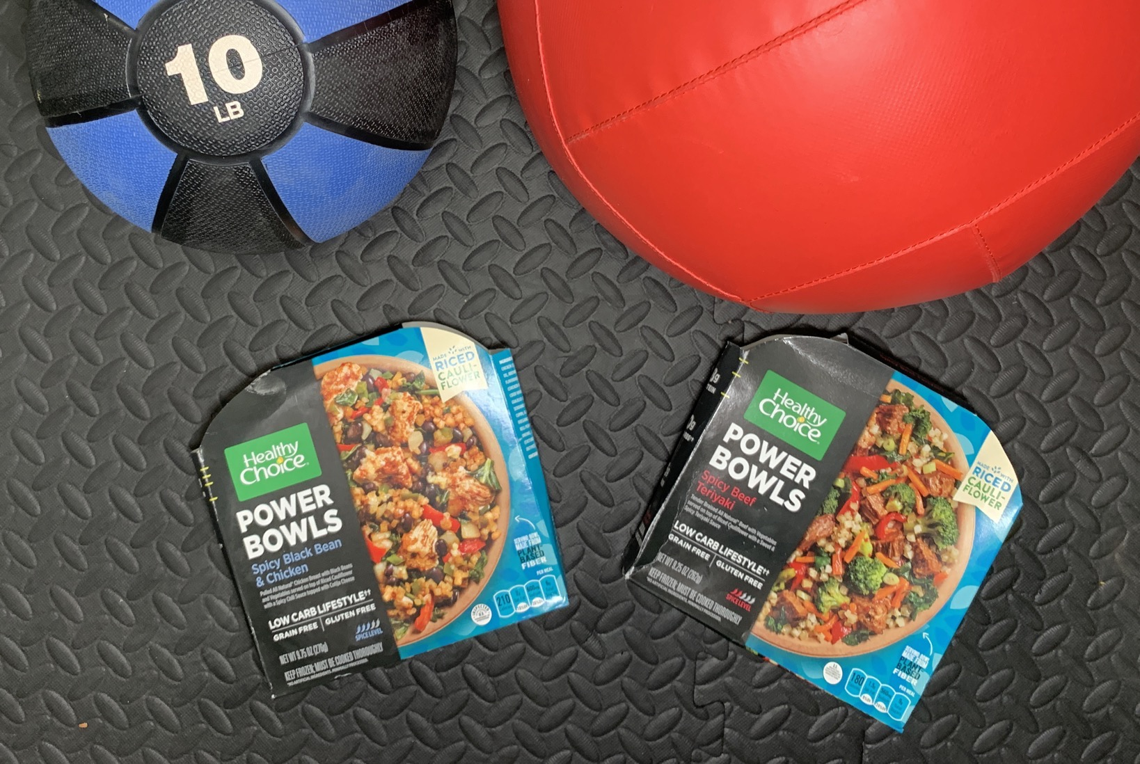 Healthy Choice Grain Free Power Bowls Spicy Beef Teriyaki and Healthy Choice Grain Free Power Bowls Spicy Black Bean & Chicken