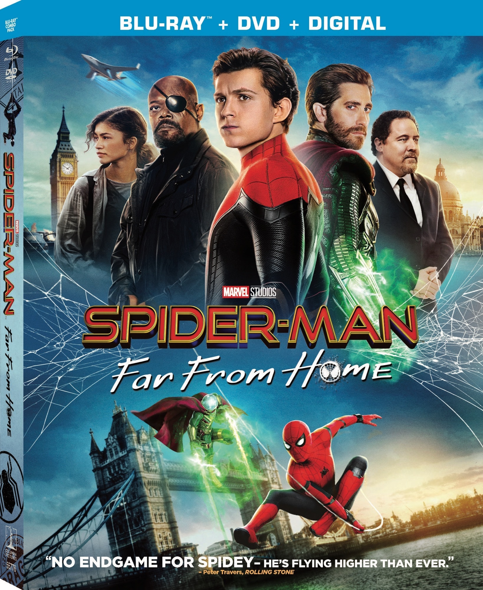 Spiderman FarFromHome 2019 BD DVD OUTERSLEEVE FrontLeft V2