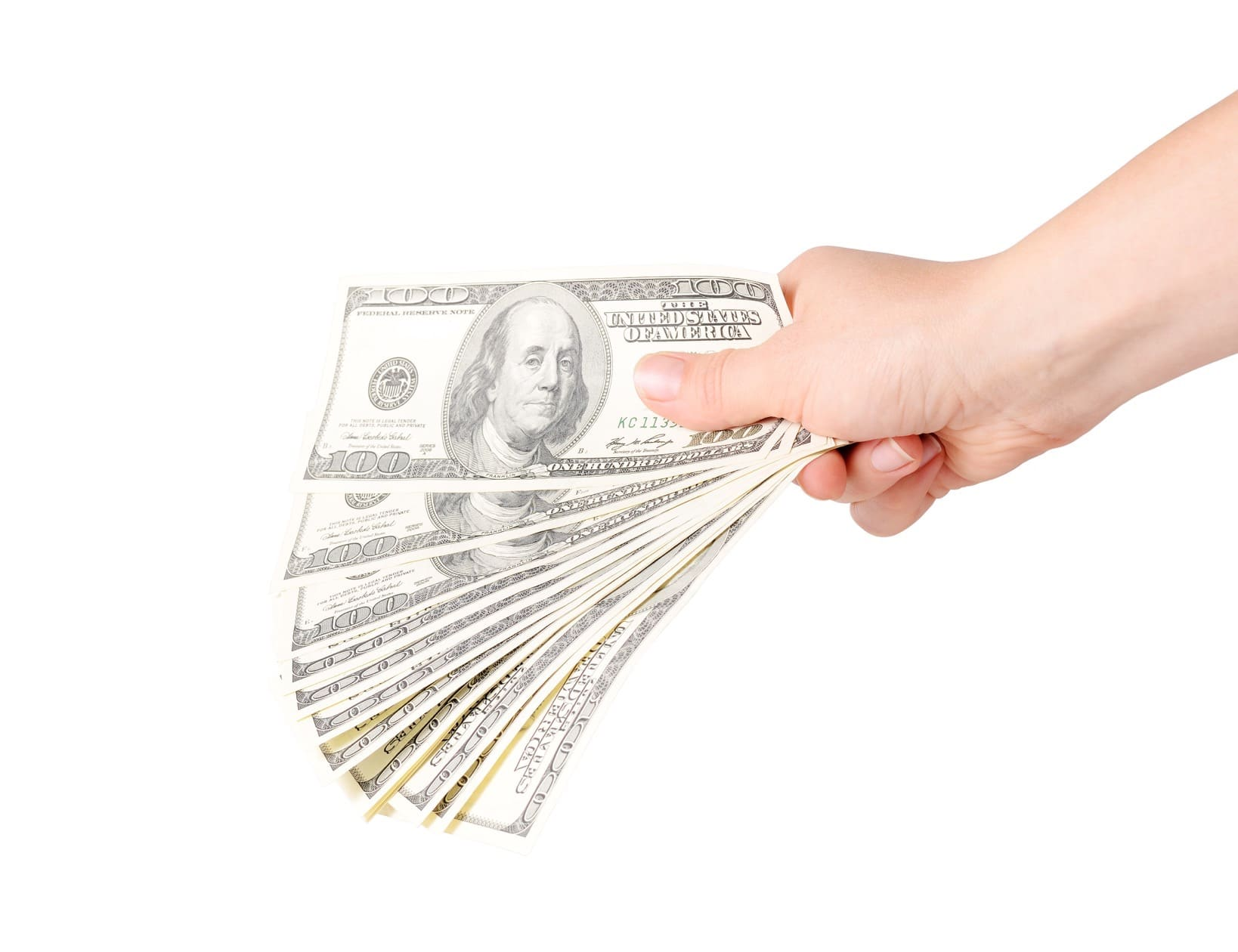 hand holds cash
