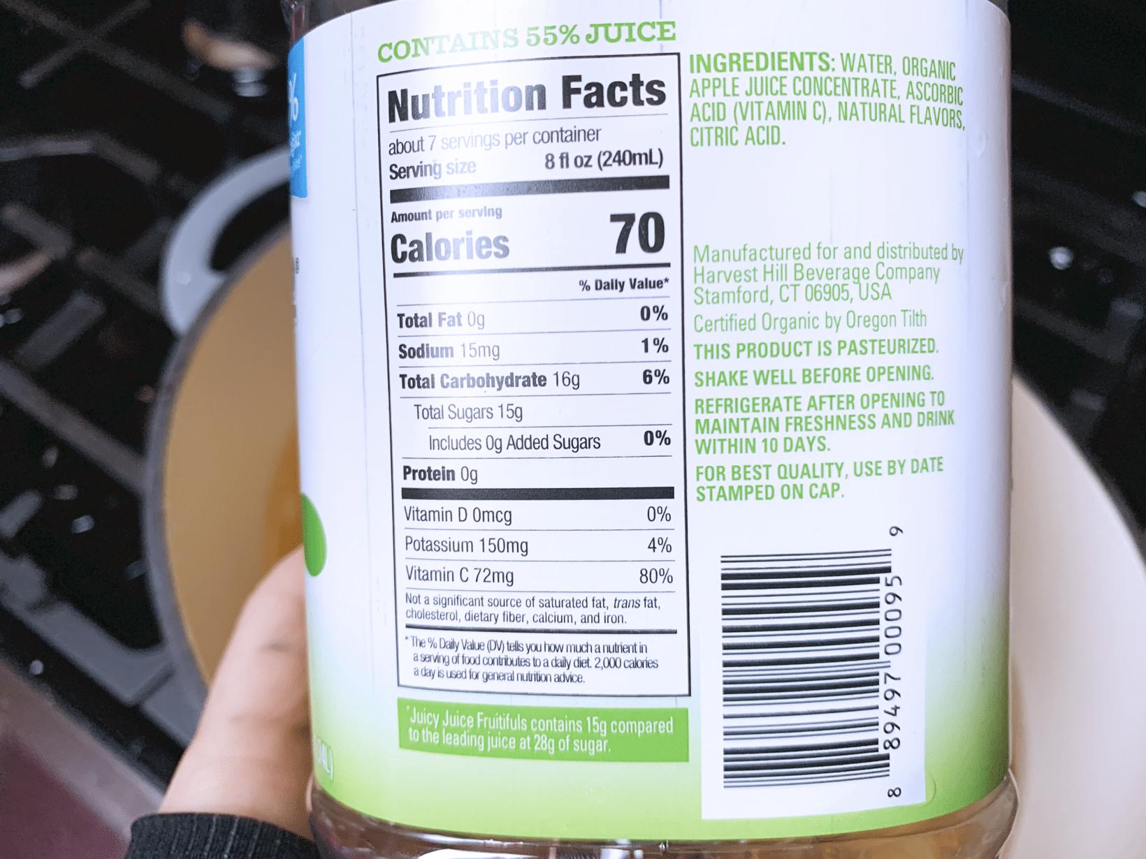Apple cider apple juice reduced sugar